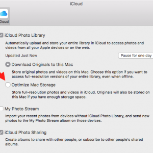 Photos Preferences iCloud